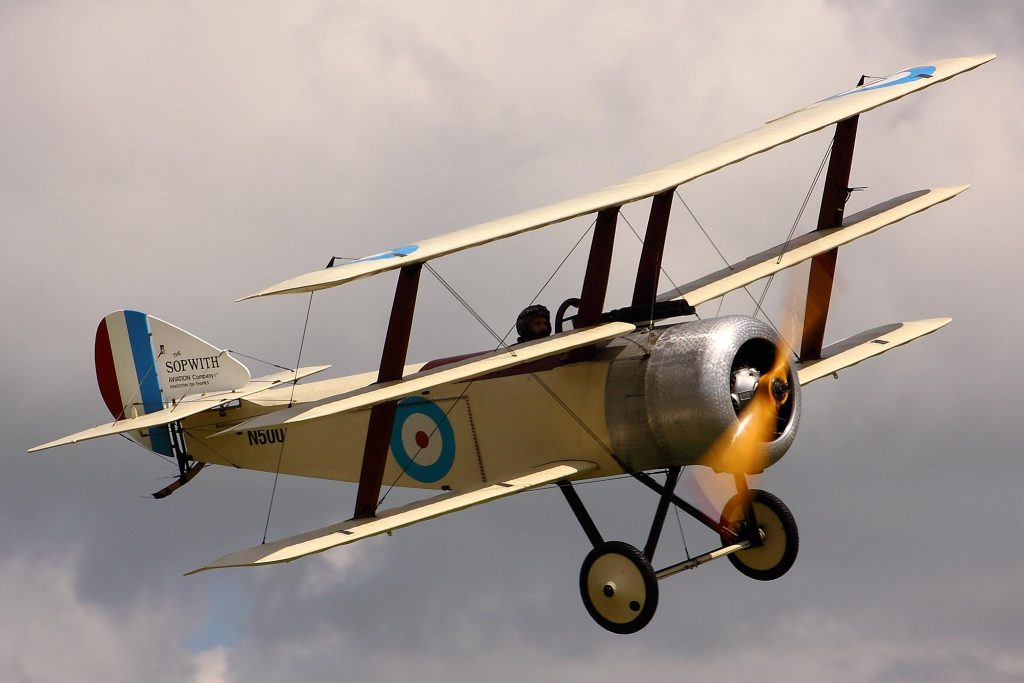 Sopwith Triplane Flying