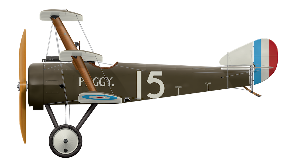 Sopwith Triplane N5387 Peggy - Side Profile View