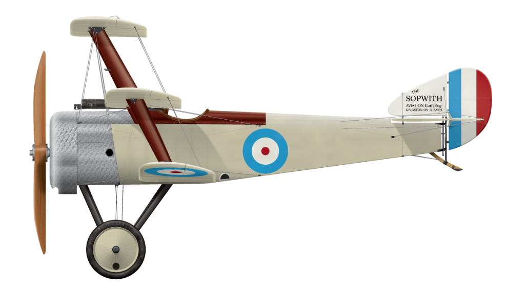 Sopwith Triplane Prototype N500 Side Profile View