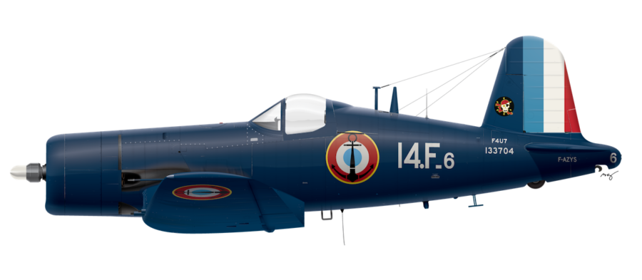 French Navy F4U-7 - 14F Aeronavale No.133704 - Circa 1956