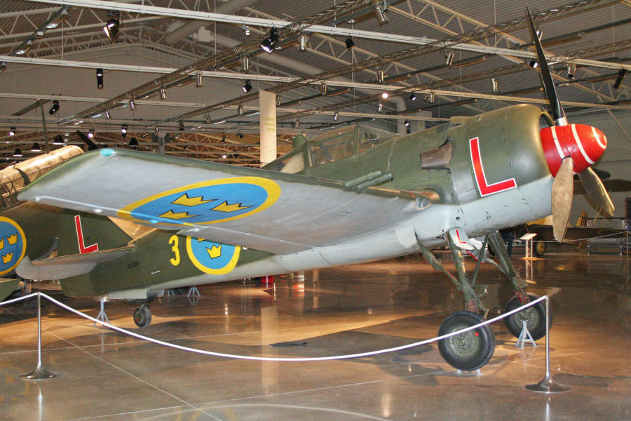 FFVS J 22B at the Flygvapnet Museum