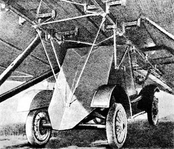 D-8 Armored Car mounted to a TB-3 Bomber