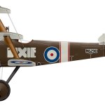 Sopwith Triplane N6290 Dixie - Side Profile View