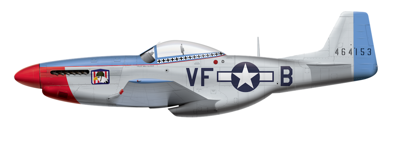 P-51D Mustang - 464153 Side Profile View