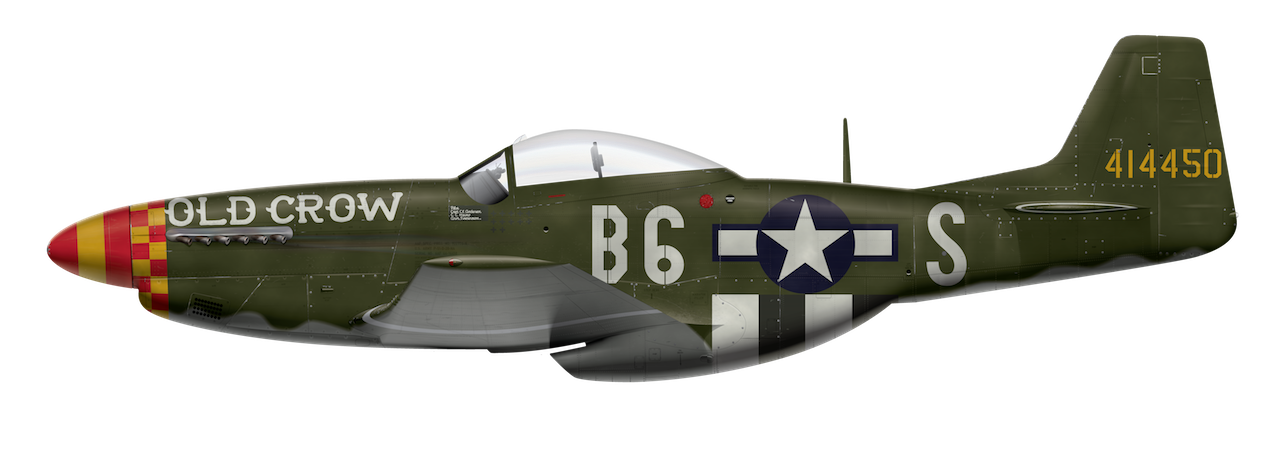 "P-51D ""Old Crow"" Side Profile View"