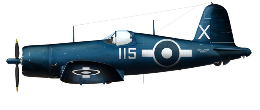Royal Canadian Navy FG-1D - 1841 Sqn BuNo 76236 - Aug 1945