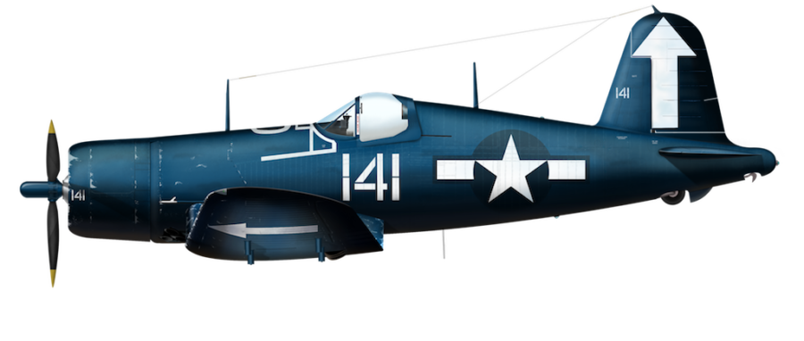 U.S. Navy F4U-1D - VMF-451 20141 - Apr 1945