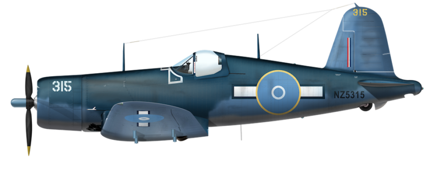 Royal New Zealand AF F4U-1 - No. 21 Sq NZ5315 BuNo 49909 - Jun 1944