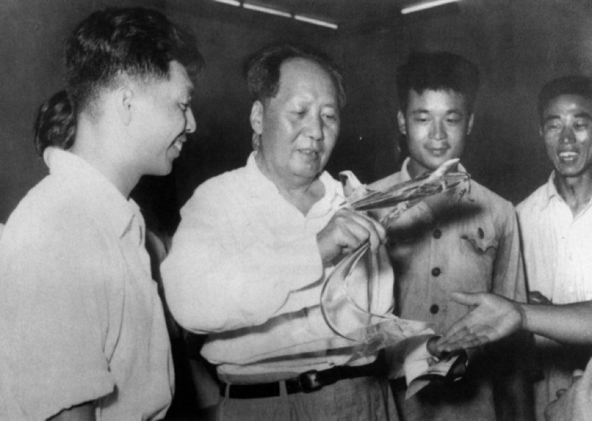 Chairman Mao Inspects Model