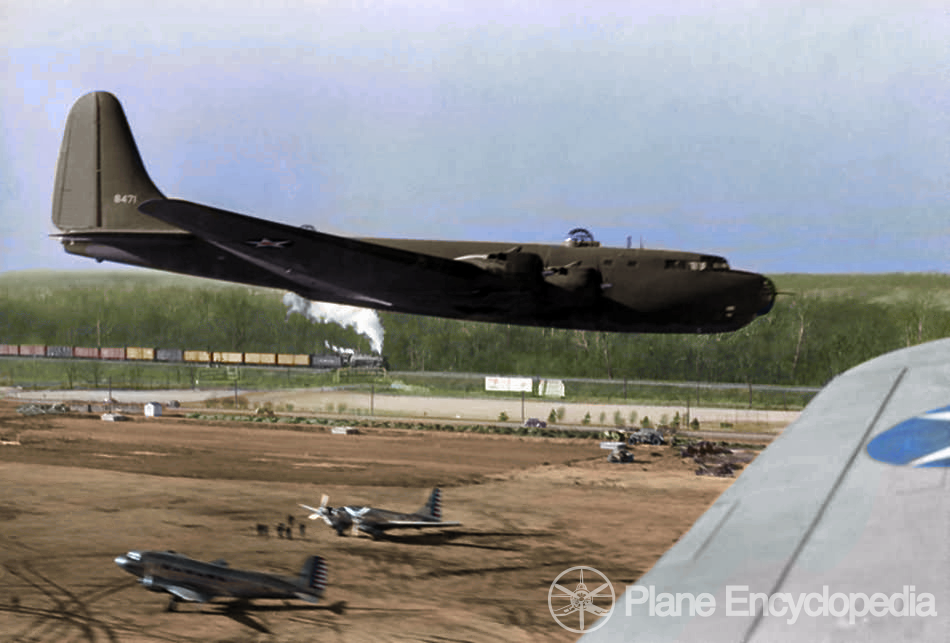 XB-19_in_flight_1942_Colorized copy